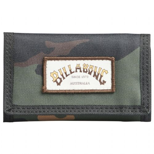 BILLABONG MENS WALLET.ATOM TRIFOLD CAMO HOOK LOOP CREDIT CARD MONEY PURSE 9W 1